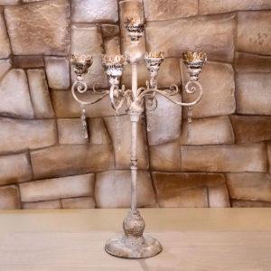 candelabro cinque luci ferro