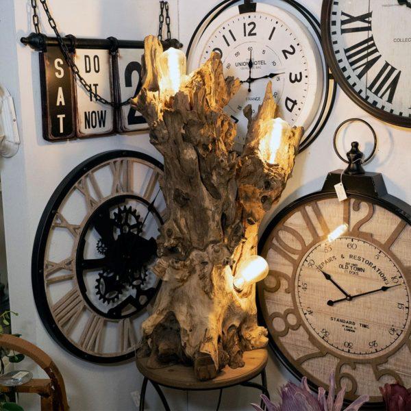 lampada ceppo legno
