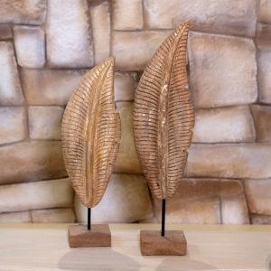 foglie in legno