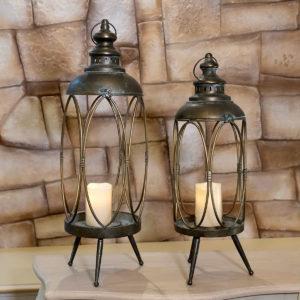 lanterna in ferro e portacandela