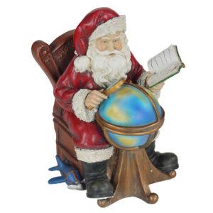 Babbo Natale con mappamondo
