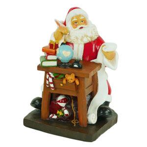 Babbo Natale con mappamondo e regali