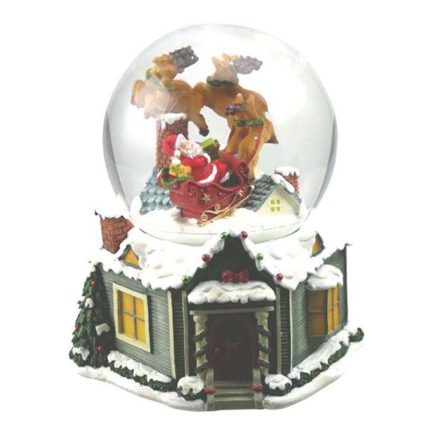 sfera di neve con babbo natale