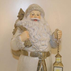 Babbo Natale bianco con lanterna