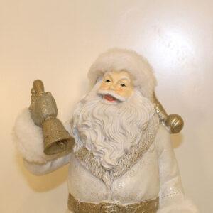 Babbo Natale bianco con campana