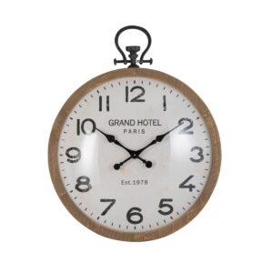 orologio legno naturale