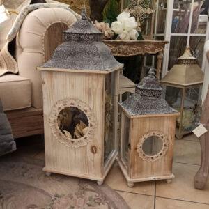 lanterna legno e ferro