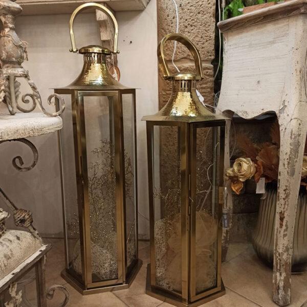 lanterne in ferro dorate