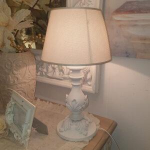 lume artigianale legno e tessuto